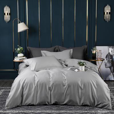 2021新款100支长绒棉纯色系列(床单款四件套) 1.5m床单款四件套 迷雾灰