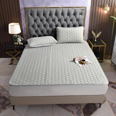 2021新款专利A类凉感丝云母乳胶席冰丝席三件套 1.2*2.0m凉席三件套 床单款-银灰