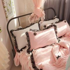 水洗纱单品枕套 48*74/只 粉