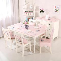 鑫和家 磨毛大版花系列订做产品 同款桌布 椅套
