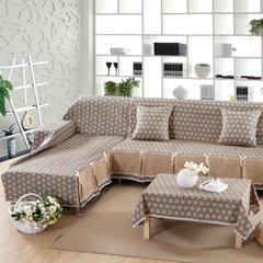 欧式夹棉沙发巾全盖沙发防灰尘沙发头盖布沙发靠背巾沙发套沙发罩 50*50cm同款抱枕套 依梦