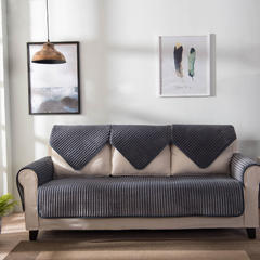 意大利绒火焰复合沙发垫纯色素色防滑潮牌毛毯客厅茶几卧室床边 淡雅灰