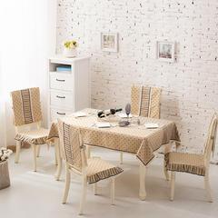 2017经典款棉麻餐桌布套装餐椅垫桌旗盘垫桌布台布茶几布布艺 90*90cm 大漠风情