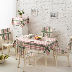 2017经典款棉麻餐桌布套装餐椅垫桌旗盘垫桌布台布茶几布布艺 90*90cm 粉彩