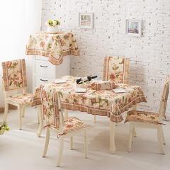 2017经典款棉麻餐桌布套装餐椅垫桌旗盘垫桌布台布茶几布布艺 90*90cm 花梦传奇