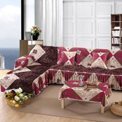 欧式夹棉沙发巾全盖沙发防灰尘沙发头盖布沙发靠背巾沙发套沙发罩 50*50cm同款抱枕套 艾里克