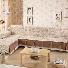 欧式夹棉沙发巾全盖沙发防灰尘沙发头盖布沙发靠背巾沙发套沙发罩 50*50cm同款抱枕套 爱在深秋