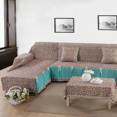 欧式夹棉沙发巾全盖沙发防灰尘沙发头盖布沙发靠背巾沙发套沙发罩 50*50cm同款抱枕套 彩云之南