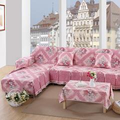 欧式夹棉沙发巾全盖沙发防灰尘沙发头盖布沙发靠背巾沙发套沙发罩 50*50cm同款抱枕套 春色芳菲