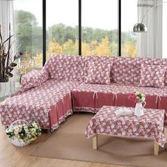 欧式夹棉沙发巾全盖沙发防灰尘沙发头盖布沙发靠背巾沙发套沙发罩 50*50cm同款抱枕套 花间舞步
