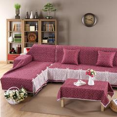 欧式夹棉沙发巾全盖沙发防灰尘沙发头盖布沙发靠背巾沙发套沙发罩 50*50cm同款抱枕套 卡西朵娜
