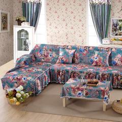 欧式夹棉沙发巾全盖沙发防灰尘沙发头盖布沙发靠背巾沙发套沙发罩 50*50cm同款抱枕套 美丽印象