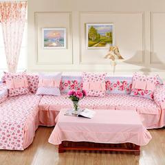 定制工艺夹棉AB版简约清新沙发罩巾沙发套垫沙发盖布小清新全盖 50*50cm同款抱枕套 爱丽丝