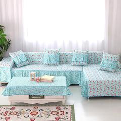 定制工艺夹棉AB版简约清新沙发罩巾沙发套垫沙发盖布小清新全盖 50*50cm同款抱枕套 蝴蝶兰
