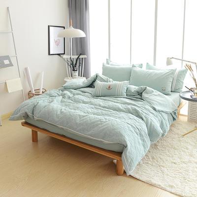 全棉双层纱功能型四件套 标准床单款四件套(1.5m-1.8m床) 嫩绿