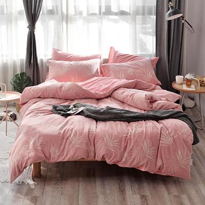 全棉色织水洗提花系列 标准床单四件套(1.5-1.8M) 漫步小景-玉