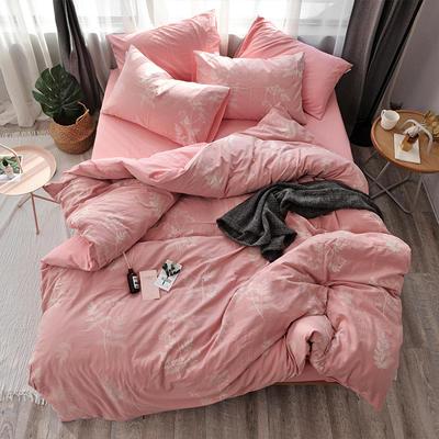 全棉色织水洗提花系列 标准床单四件套(1.5-1.8M) 凡花絮事-玉