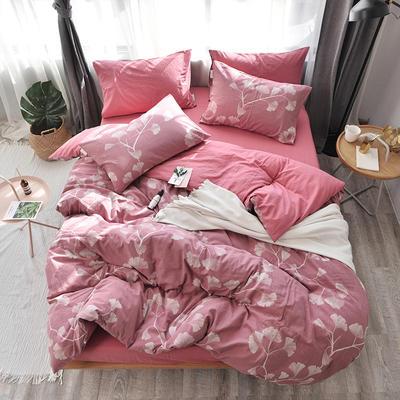 全棉色织水洗提花系列 标准床单四件套(1.5-1.8M) 欣雅-紫红