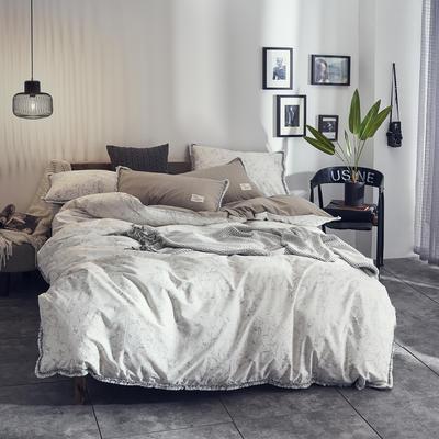 全棉水洗棉流苏款 1.8m(6英尺)床 斑斓