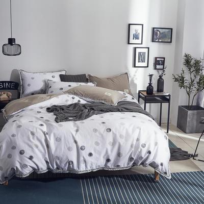 全棉水洗棉流苏款 1.8m(6英尺)床 寐色