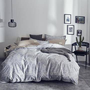 全棉水洗棉流苏款 1.5m(5英尺)床 水墨