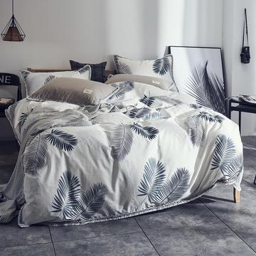 全棉水洗棉流苏款 1.5m(5英尺)床 羽叶