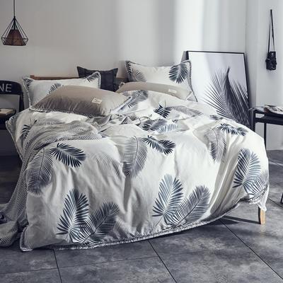 全棉水洗棉流苏款 1.8m(6英尺)床 羽叶
