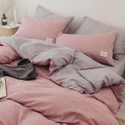 2018秋冬新品 日式风全棉水洗棉系列 床单款 1.2m(4英尺)床 蓝雪