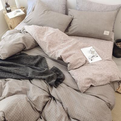 2018秋冬新品 日式风全棉水洗棉系列 床单款 1.2m(4英尺)床 曼斯