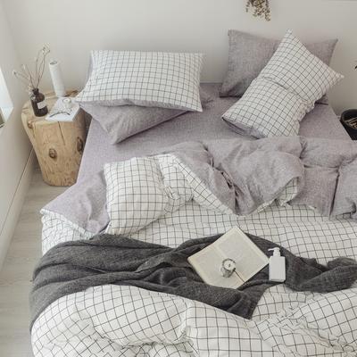 2018秋冬新品 日式风全棉水洗棉系列 床单款 1.2m(4英尺)床 多拉