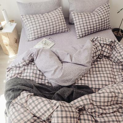 2018秋冬新品 日式风全棉水洗棉系列 床单款 1.2m(4英尺)床 艾琳