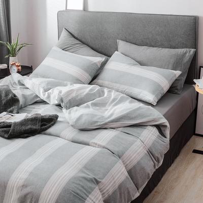 (总)2019春夏新品 简约全棉水洗棉系列 1.2m(4英尺)床 流影
