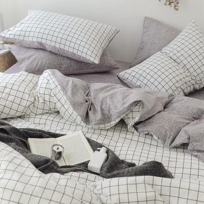 (总)2019春夏新品 全棉日式水洗棉系列 1.8床笠(被套2*2.3) 多拉