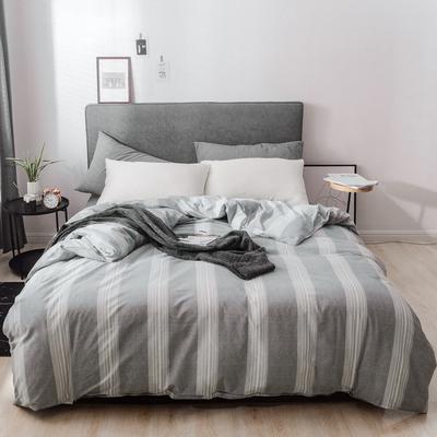 2019新款-简约全棉水洗棉系列(单被套) 200X230cm 流影