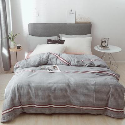 2019新款-简约全棉水洗棉系列(单被套) 150x200cm 摩卡-灰