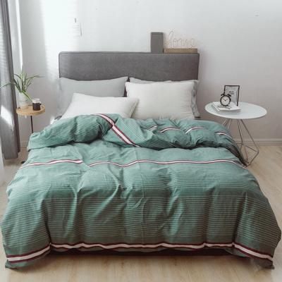 2019新款-简约全棉水洗棉系列(单被套) 200X230cm 摩卡-绿