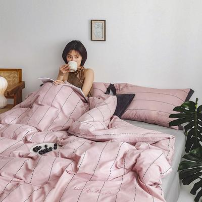 2019新款-创意家居生活系列四件套 1.8m(6英尺)床 黛西-粉