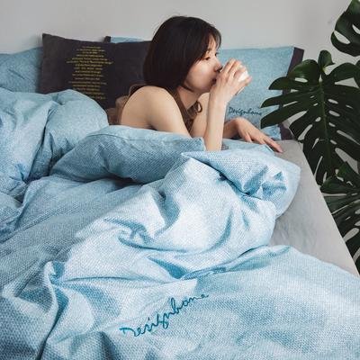 2019新款-创意家居生活系列四件套 1.8m(6英尺)床 卡思-绿