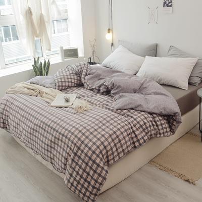 2019新款-全棉日式水洗棉系列(单被套) 150x200cm 艾琳