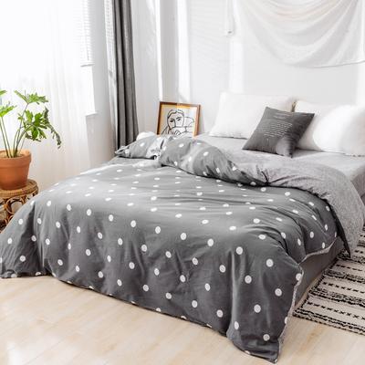 2019新款-全棉日式水洗棉系列(单被套) 150x200cm 波点-灰