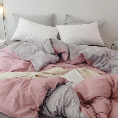 2019新款-全棉日式水洗棉系列(单被套) 150x200cm 粉黛