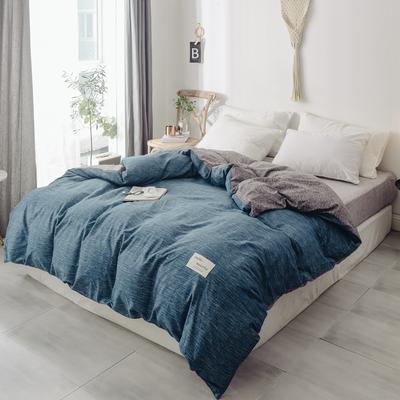 2019新款-全棉日式水洗棉系列(单被套) 150x200cm 蓝调