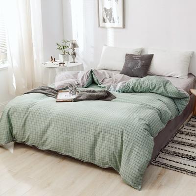 2019新款-全棉日式水洗棉系列(单被套) 150x200cm 伊格-绿