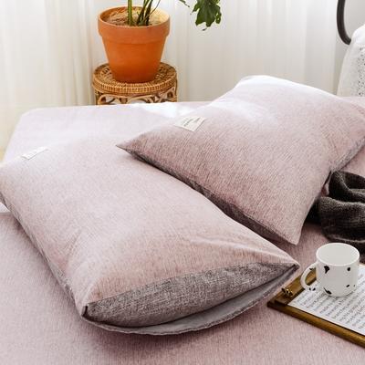 2019新款-全棉日式水洗棉系列 (单枕套) 48cmX74cm/一对 安妮