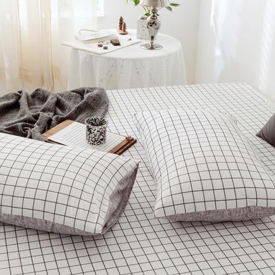 2019新款-全棉日式水洗棉系列 (单枕套) 48cmX74cm/一对 多拉