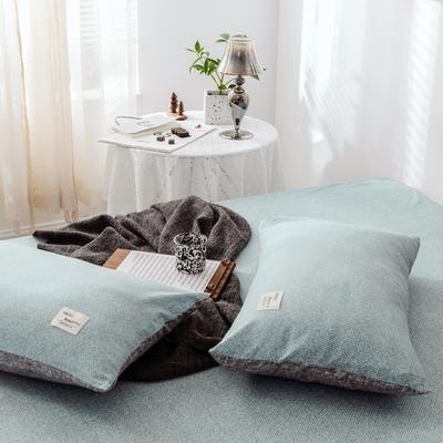2019新款-全棉日式水洗棉系列 (单枕套) 48cmX74cm/一对 弗杰