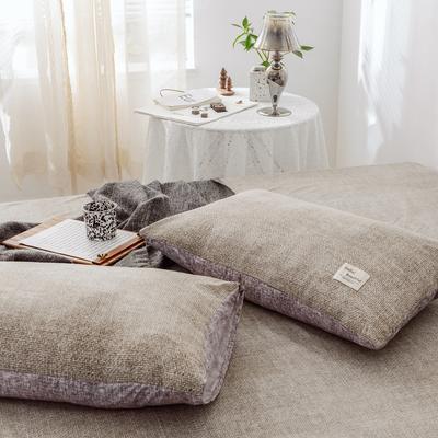2019新款-全棉日式水洗棉系列 (单枕套) 48cmX74cm/一对 曼斯