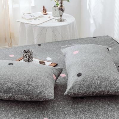 2019新款-全棉日式水洗棉系列 (单枕套) 48cmX74cm/一对 维娜