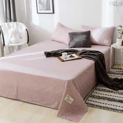 2019新款-日式风全棉水洗棉 单床单+枕套(三件套) 学生宿舍床120cmx230cm 安妮