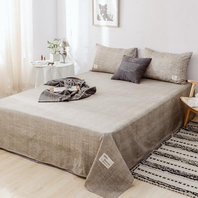 2019新款-日式风全棉水洗棉 单床单+枕套(三件套) 学生宿舍床120cmx230cm 曼斯